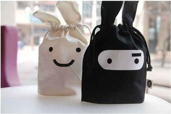 Free shipping~Ninja rabbit travel pouch, Black & White style,Storage bags,cartoon bags,Pouch,lunch bags 30 pcs/lot