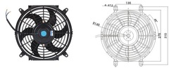 auto A/C electric fan 10&quot;(China (Mainland))