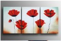 rose flower  Home Decoration Modern Abstract Oil Painting on canvas 12x16inchx3
