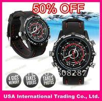 50% OFF, 1 pcs/lot watch camera1280*960VGA 4GB Waterproof Camera Watch Video(DHW-A)