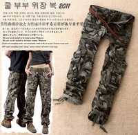 free shipping 2013 women's 8666 cool drawstring low-waist lovers Camouflage pants casual trousers