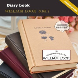 Min.order is $25 (mix order) Stationery girl Hardcover diary notepad Memo Paper notebook book promotion gift william MMA06051(China (Mainland))