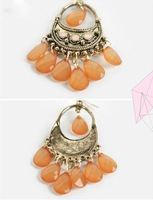 Free shipping~2012 New arrival Bohemian Style stud earrings  Women/Girl's Jewellery Earring 5Pairs/Lot