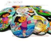 free shipping!!! cute and fashion 3.0 cm 18pcs dora pin badge< party favor HYB1106-01  best for gift