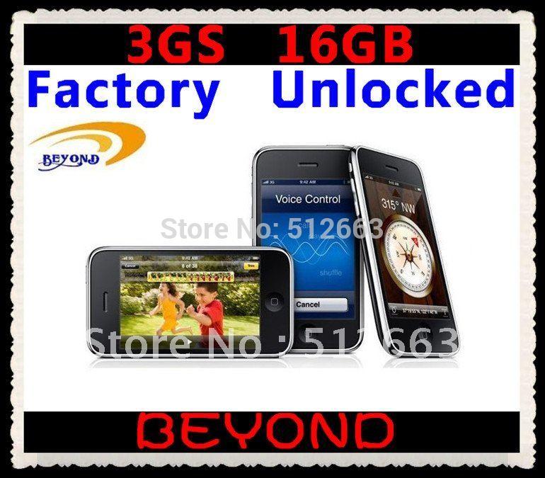 Мобильный телефон 100% Factory Unlocked original 3GS 16GB mobile phone WIFI GPS 3.2MP Black&White in sealed box dropshipping