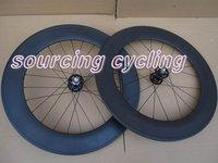 700c Fixed gear track wheels / 88mm tubular carbon wheelset