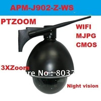 Apexis J902 New PT ZOOM IP Camera Surveillance with Night visibility ,3XZoom ,Dome Wireless IP Camera  Free shipping