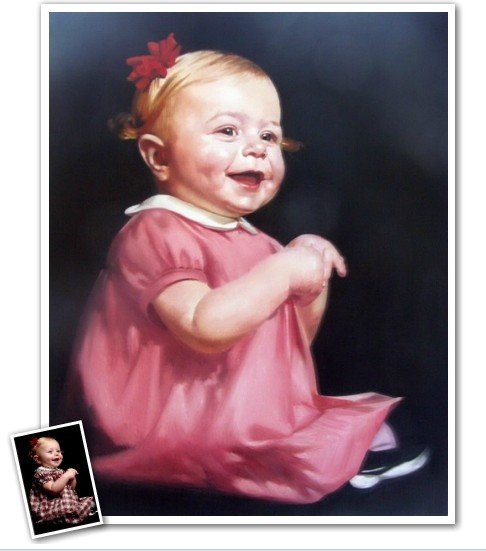 Send us the pictures u wanna paint,hand painted oil painting on canvas by photos,(China (Mainland))