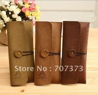 2012 new korean style romantic tower Storage Bag,pen bag,fashion and Retro leather pencil case,cosmetic bag