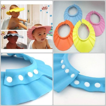 free shipping!!! Baby shampoo hat hair thickening shampoo cap cap swimming cap yellow 8pcs/lot