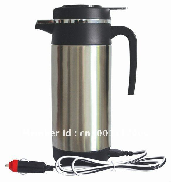 Kettle 1200ML 24V/12V Stainless Steel Car Electric Kettle Heated Electric Pot/Mug for Travel(China (Mainland))