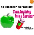 Free Shipping!!Adhesive Portabe Pocket Mini Vibration Resonate Speaker 3.5mm Great Sound USB