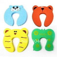 Wholesale New 100% 4 PCs Animal Cartoon Jammers Stop Door stopper holder lock Safety Guard Finger Protect for Child kids Baby