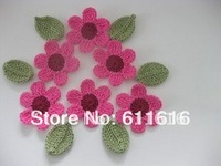 Free shopping one floor color crochet flower handmade flower