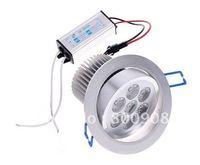 85~265V 7W LED Ceiling Light With 7 LED Bulbs White light 700LM led downlight lamp free shipping