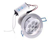 7-LEDS 85~265V 7W Ceiling Light warm white/White light 700LM led downlight lamp ,free shipping
