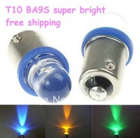 100pcs free shipping T10 BA9S 1LED super bright LED Wedge Interior Lights Car Auto LED