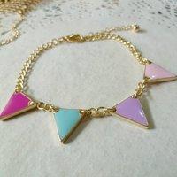 Ювелирная подвеска Triangle Style Fashion Pendant Necklace #CL024