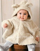 Lovely baby coat COMBI baby cape kids cloak apricot color reversible design baby outerwear, 342#