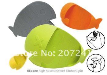 Best selling  cute  fish Heat Resistance Holder Kitchen Glove Oven Mitt  Wholesale 30pcs/lot!!! Free shipping!!!