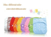 FREE SHIPING NEW promotional  9COLOR EACH ONE PIECES  baby sun baby leak-proof cloth diapers one size adjustable