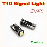 300pcs/lot New High bright Canbus T10 W5W 1SMD 5050 LED width Lamp For signal indicator light  No error signal report