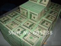 Free shipping 10pcs/lot $100 Bill 6.5-inch Dollar Memo Dollar Notepad Writing Pad (100 sheet)