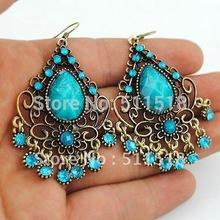 wholesale-Retro crystal exquisite fashion earrings designed retro jewelry free shipping YF-E1076(China (Mainland))