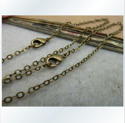 5m 16ft 1.5x2mm Antique Blue Bronze Brass Chain metal charm pendant E1003(China (Mainland))