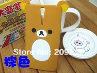 New Cartoon Rilakkuma Lazy Bear Soft Back Case for Sony Xperia S Sl LT26i LT26ii, With Retail Package,1pcs min order