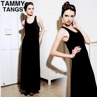 Summer fashion modal spaghetti strap basic skirt beach dress bohemia vest full dress one-piece dress