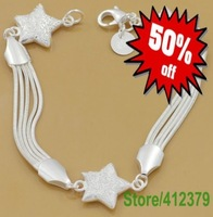 Free Shipping|Wholesale jewelry | Bracelets|Fashion Silver jewel | Net strap | Factory Price|925 Silver Bracelets