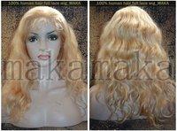 "SUPER DEALS PRODUCTION!! 100% PUER Virgin huamn remy  hair, full lace wig,#613 the lightest blonde,BODY WAVE,8--24"",0.3kg/pcs"