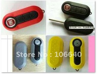 New arrival!Fiat remote key case,key blank with different colors