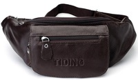 TIDING Top Leather Fanny Pack Waist Travel Shoulder Bag Free shipping 3028