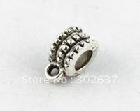 80 Tibetan silver european bead bails for charm bracelet A8272