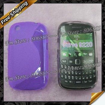 Wholesale 100pcs/lot  S Line Design TPU gel  case for blackberry curve 9220,via DHL Free Shipping
