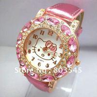 2012 Newest Hello Kitty watch Children Kids Lady women's watch hellokitty Quartz watches alibaba express