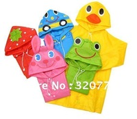 Waterproof Animal raincoat ,5colors(optional),POLYSTER Rainwear For 90~130CM Kids/children 1247 Drop shipping