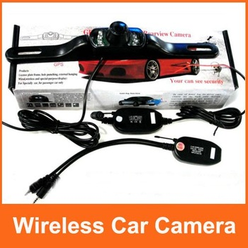 15pcs/lot Wireless Car Rearview Camera With GPS+Anti-Fog+Waterproof+Shockproof+120 Degree Lens Angle By DHL