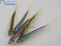 Promotion 10pc/lot [10cm 4g] Soft Fishing Lure Fishing Baits Artificial hollow Fish lures Color random Freeshipping (FS-63)