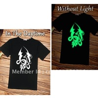 china wind dragon  luminous popular T-shirt  free shipping