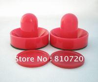 "Free shipping 2PCS Mini red Air Hockey Table 75mm Goalies Pusher mallet & 2PCS 50mm Puck  2""  NEW"