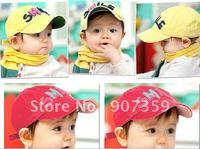 baby hats Children 's baseball cap boys/girl's cap Lovely baseball hat baby sun hat/cap 5 colors 8pcs/lot