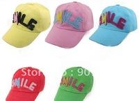 baby hats Children 's baseball cap boys/girl's cap Lovely baseball hat baby sun hat/cap 5 colors 20pcs/lot