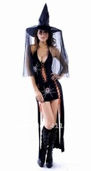 Free shipping Stage play Halloween/black/long skirt dress(China (Mainland))