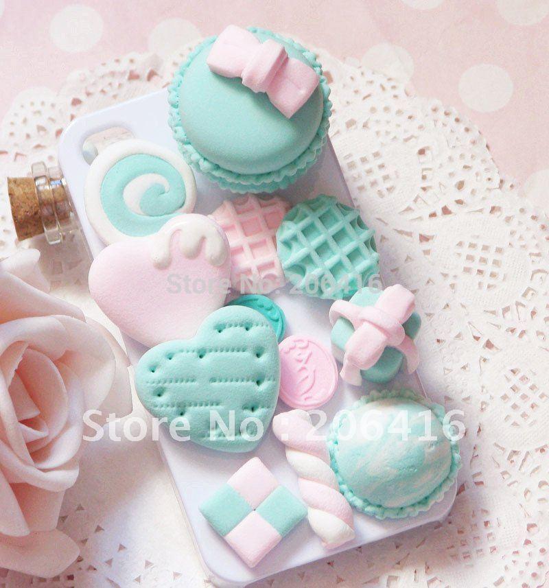 cabochons kit cream cabochons 3d macaron macaron cute cheap phones ...