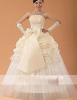 123 Free shipping 2013 new arrival women fashion sexy embroidey strapless flower beading appliques wedding dresses/1pcs