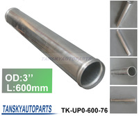 3'' 600MM LENGTH SLIVER POLISHED HARD ALUMINUM PIPING DIY TURBO INTERCOOLER STRAIGHT PIPING (TK-UP0-600-76)HAVE IN STOCK
