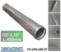 2.25'' 450MM LENGTH SLIVER POLISHED HARD ALUMINUM PIPING DIY TURBO INTERCOOLER STRAIGHT PIPING(TK-UP0-450-57)